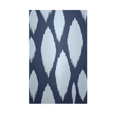 Decorative Ikat Navy Blue/Light Blue Area Rug