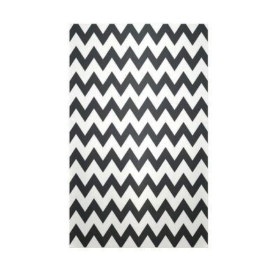 Chevron Black Indoor/Outdoor Area Rug Rug Size: Rectangle 3 x 5