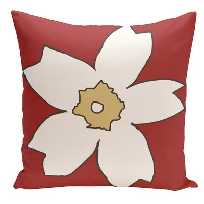 Floral Throw Pillow Size: 16 H x 16 W, Color: Buddha / Ginger