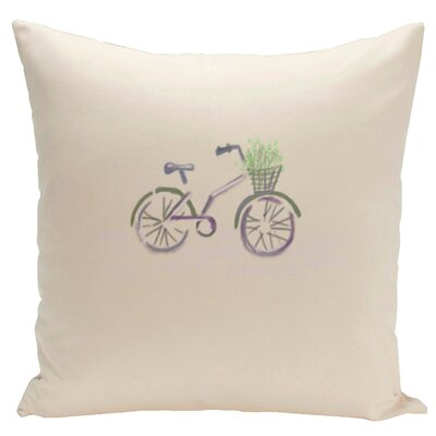 Decorative Bicicleta Solo Throw Pillow Size: 18 H x 18 W