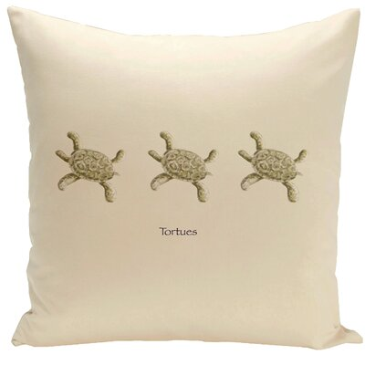 Decorative Tortues Throw Pillow Size: 16