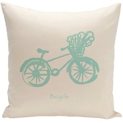 Decorative Bicycle Throw Pillow Size: 20 H x 20 W