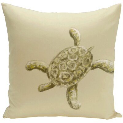 Decorative Tortuga Throw Pillow Size: 18 H x 18 W