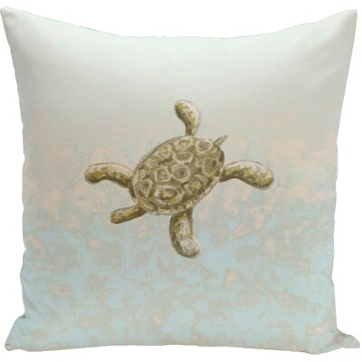 Decorative Tortuga Water Throw Pillow Size: 18 H x 18 W