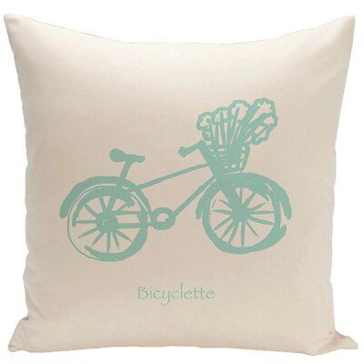 Decorative Bicyclette Throw Pillow Size: 20