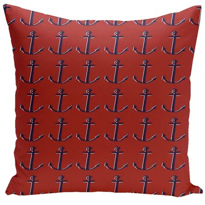 Decorative Anchor Throw Pillow Size: 16 H x 16 W, Color: Cardinal