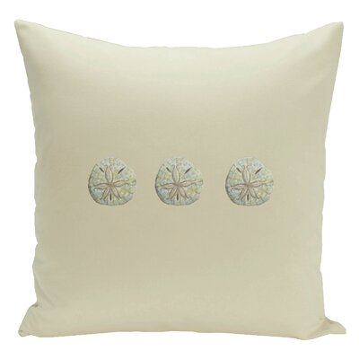 Decorative Three Sanddollars Throw Pillow Size: 16 H x 16 W, Color: Green / Brown