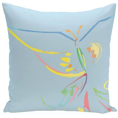 Decorative Butterfly Throw Pillow Color: Carolina, Size: 20 H x 20 W