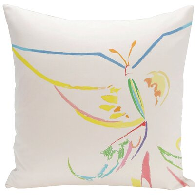 Decorative Butterfly Throw Pillow Size: 18 H x 18 W, Color: White