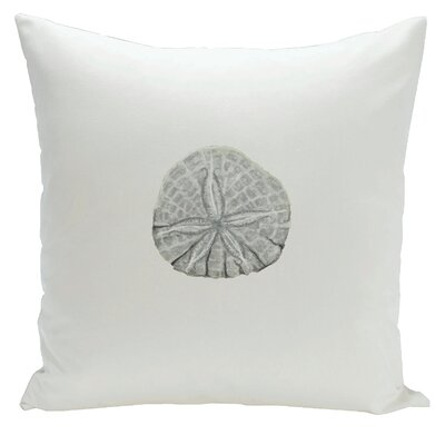 Decorative Sanddollar Throw Pillow Size: 18 H x 18 W, Color: Whisper Blue / Bisque