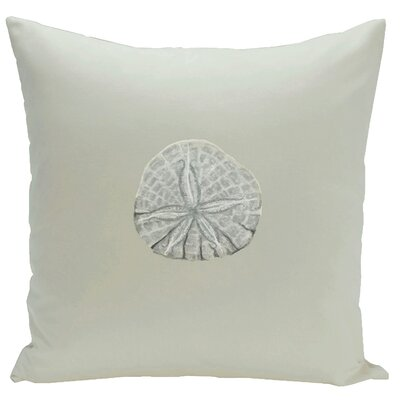 Decorative Sanddollar Throw Pillow Size: 18 H x 18 W, Color: Grey