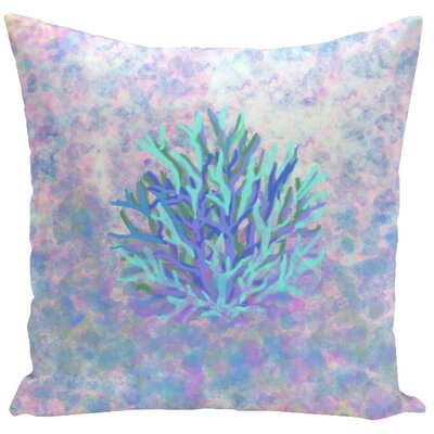 Decorative Coral Throw Pillow Size: 16 H x 16 W