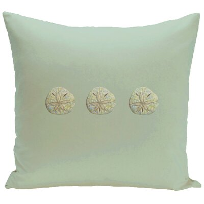 Decorative Three Sanddollars Throw Pillow Color: Green, Size: 16 H x 16 W