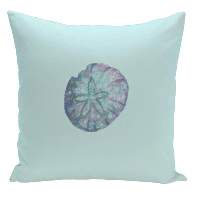Decorative Sanddollar Throw Pillow Size: 16 H x 16 W, Color: Blue / Purple