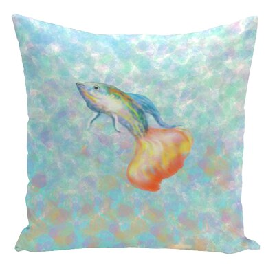 Decorative Pescado Throw Pillow Size: 18 H x 18 W