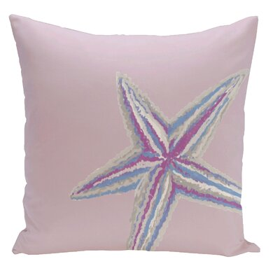 Decorative Starfish Throw Pillow Size: 16 H x 16 W