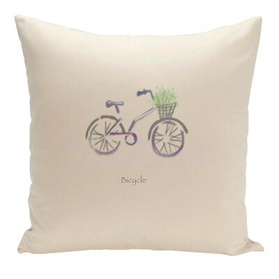 Decorative Bicycle Throw Pillow Size: 16 H x 16 W