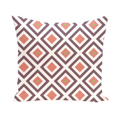 Subline Geometric Throw Pillow Size: 16 H x 16 W, Color: Purple / Coral
