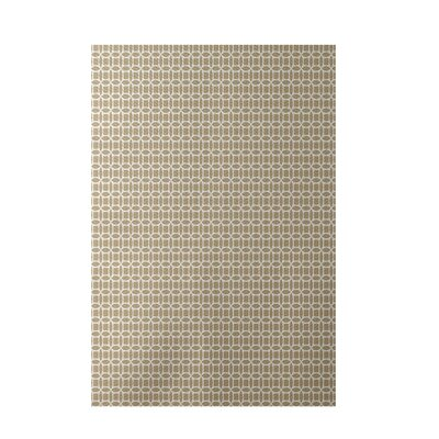 Geometric Taupe Indoor/Outdoor Area Rug Rug Size: 5 x 7
