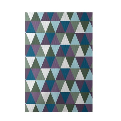 Geometric Blue Indoor/Outdoor Area Rug Rug Size: 4 x 6