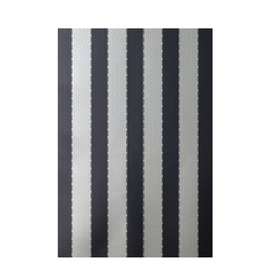 Stripe White Indoor/Outdoor Area Rug Rug Size: 5 x 7