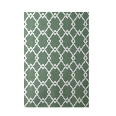 Geometric Green Indoor/Outdoor Area Rug Rug Size: 4' x 6'