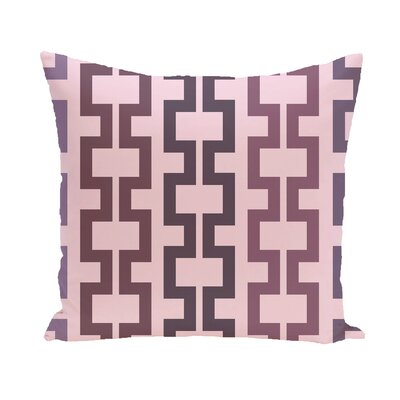 Subline Geometric Throw Pillow Size: 18 H x 18 W, Color: Blue / Navy Blue