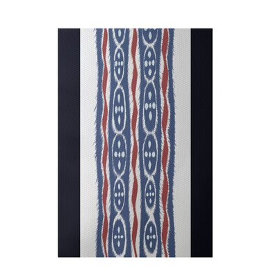 Stripe Blue Indoor/Outdoor Area Rug Rug Size: 2 x 3