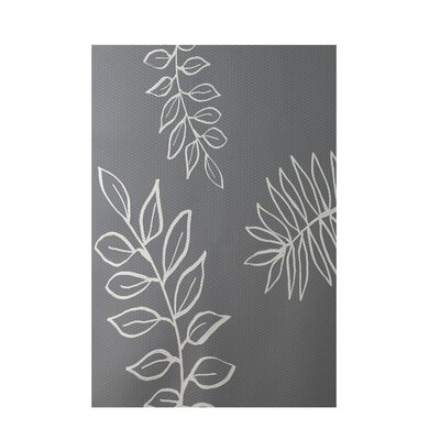 Floral Gray Indoor/Outdoor Area Rug Rug Size: 2 x 3