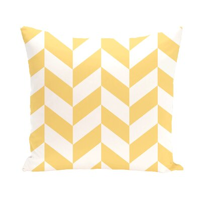 Subline Geometric Throw Pillow Size: 18 H x 18 W, Color: Yellow