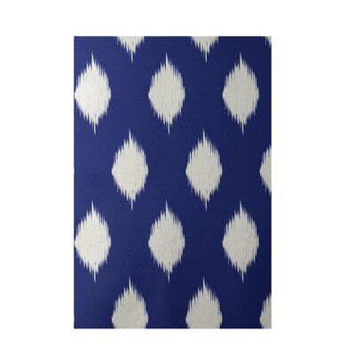 Geometric Royal Blue Indoor/Outdoor Area Rug Rug Size: 5 x 7