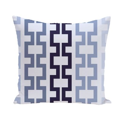 Cuff-Links Geometric Print Outdoor Pillow Color: Bewitching, Size: 18 H x 18 W x 1 D