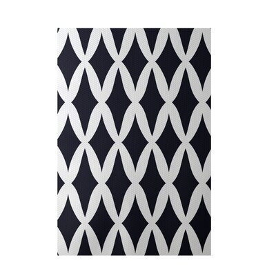 Geometric Blue Indoor/Outdoor Area Rug Rug Size: 2 x 3
