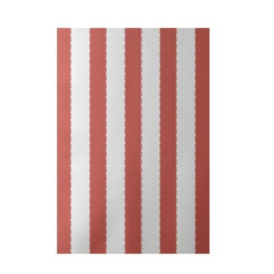 Stripe Coral Indoor/Outdoor Area Rug Rug Size: 5 x 7