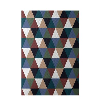 Geometric Rust Indoor/Outdoor Area Rug Rug Size: 2 x 3
