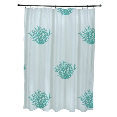 Coastal Calm Shower Curtain Color: Soft Aqua/ Aqua
