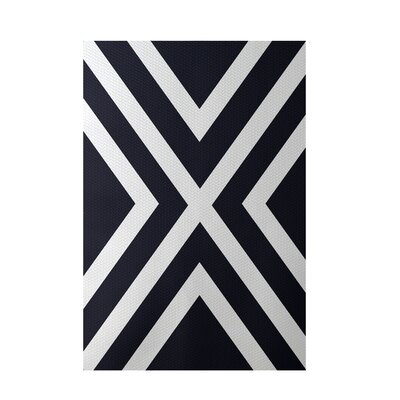 Stripe Navy Blue Indoor/Outdoor Area Rug Rug Size: 2 x 3