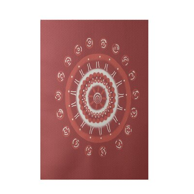 Geometric Coral Indoor/Outdoor Area Rug Rug Size: Rectangle 3 x 5