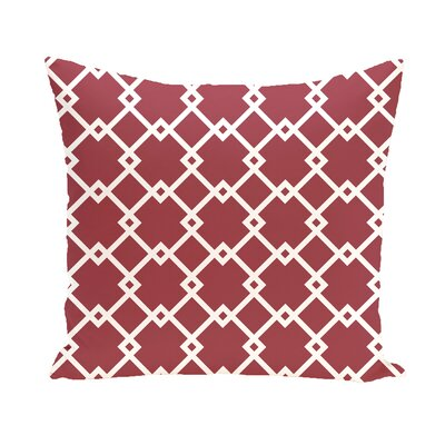 Subline Geometric Throw Pillow Size: 16 H x 16 W, Color: Green