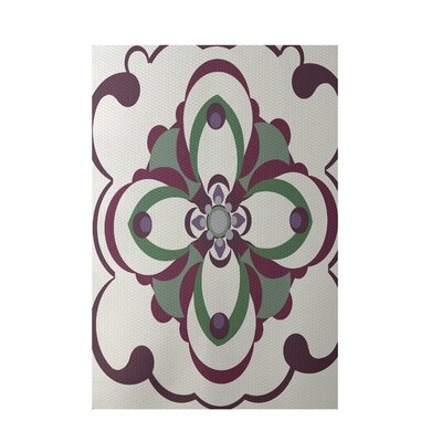 Floral Off White Indoor/Outdoor Area Rug Rug Size: Rectangle 2 x 3
