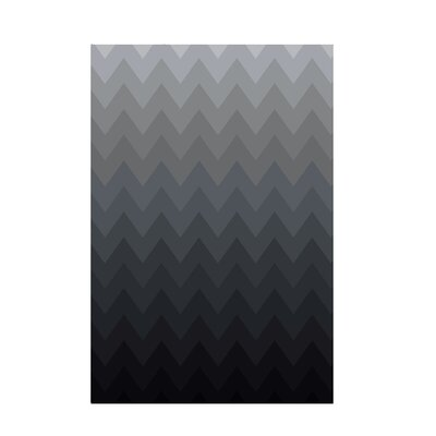 Chevron Gray Indoor/Outdoor Area Rug Rug Size: 3 x 5