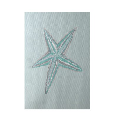 Coastal Aqua Indoor/Outdoor Area Rug Rug Size: 4 x 6