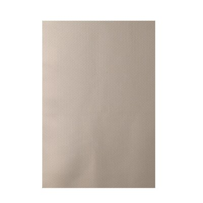 Solid Beige Indoor/Outdoor Area Rug Rug Size: 5 x 7