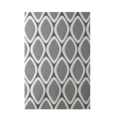 Geometric Gray Indoor/Outdoor Area Rug Rug Size: 4 x 6