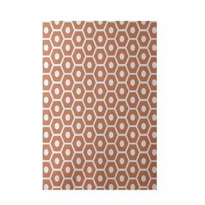 Geometric Orange Indoor/Outdoor Area Rug Rug Size: 4 x 6