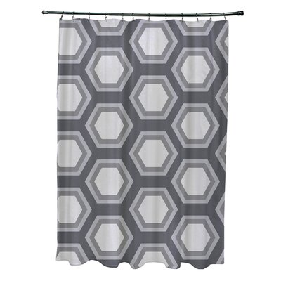 Subline Geometric Shower Curtain Color: Dark Gray/Light Gray