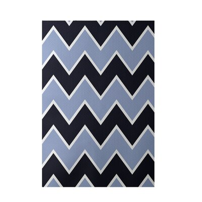Chevron Blue Indoor/Outdoor Area Rug Rug Size: 2 x 3