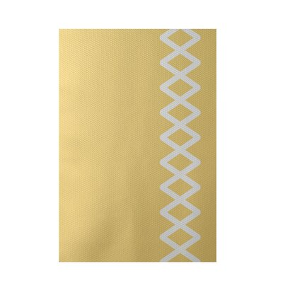 Geometric Yellow Indoor/Outdoor Area Rug Rug Size: 3 x 5
