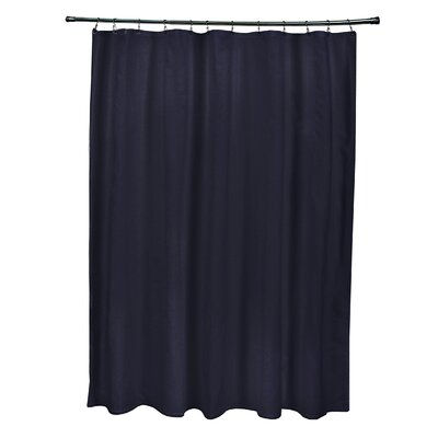 Solids Shower Curtain Color: Navy Blue