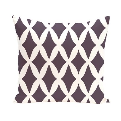 Subline Geometric Throw Pillow Size: 18 H x 18 W, Color: Purple